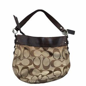 COACH Classic Monogram Leather Shoulder Bag/Purse